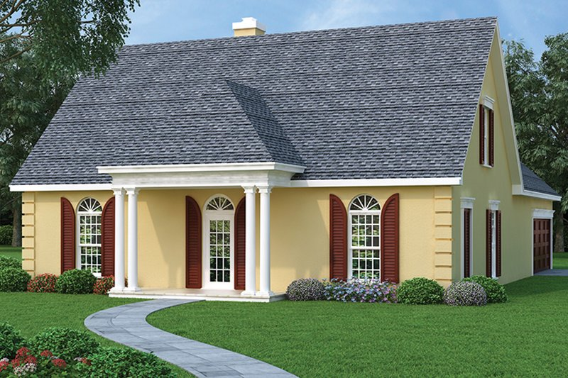 Traditional Exterior - Front Elevation Plan #45-490 - Houseplans.com
