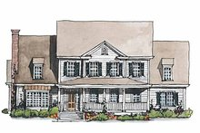 Home Plan - Classical Exterior - Front Elevation Plan #429-188