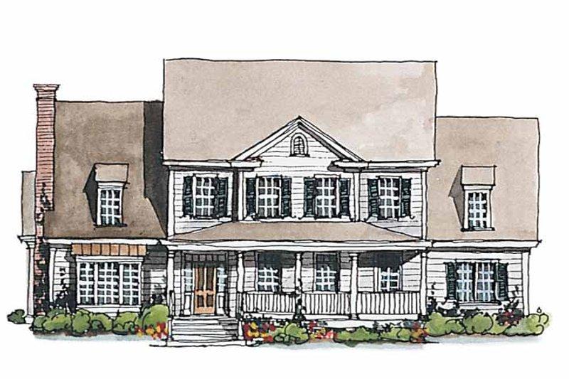 Classical Exterior - Front Elevation Plan #429-188 - Houseplans.com