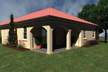 House Plan Design - Mediterranean Exterior - Rear Elevation Plan #930-424