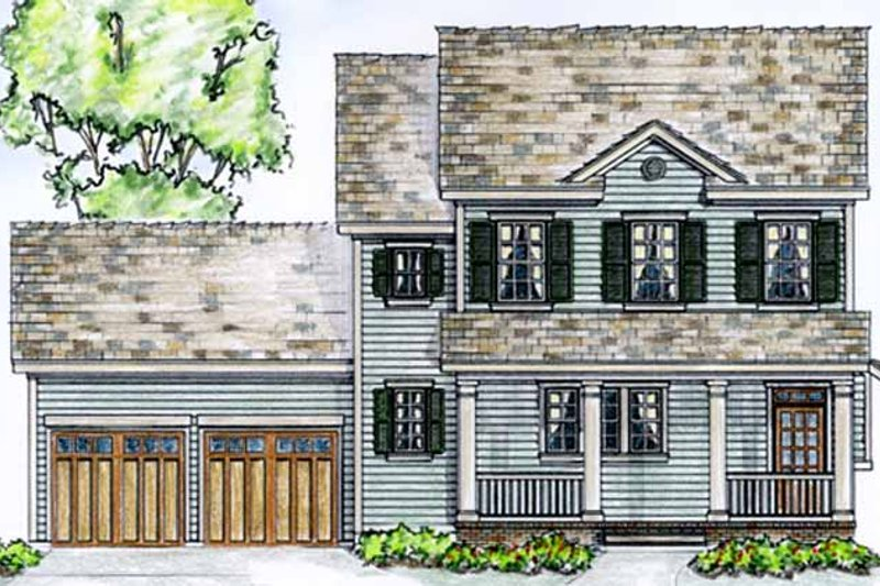 Country Exterior - Front Elevation Plan #410-3564