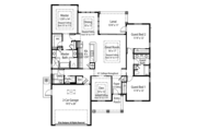 Mediterranean Style House Plan - 3 Beds 2.5 Baths 1872 Sq/Ft Plan #938-33 Floor Plan - Main Floor Plan