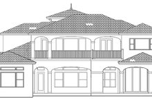 Home Plan - Mediterranean Exterior - Rear Elevation Plan #1058-97