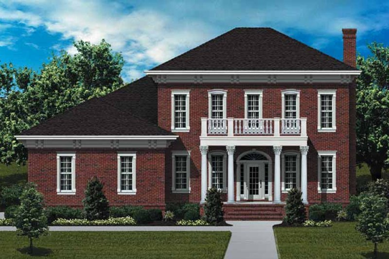 European Exterior - Front Elevation Plan #306-129