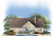Ranch Exterior - Rear Elevation Plan #929-654