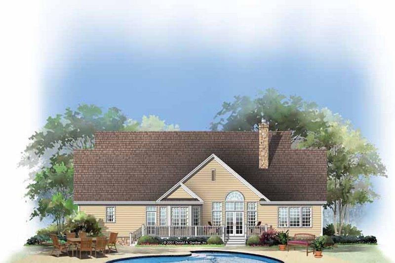 Ranch Exterior - Rear Elevation Plan #929-654 - Houseplans.com