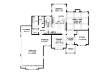Colonial Floor Plan - Main Floor Plan Plan #1010-167