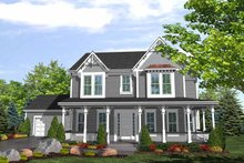 Country Exterior - Front Elevation Plan #320-834