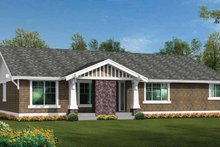 Craftsman Exterior - Rear Elevation Plan #132-538