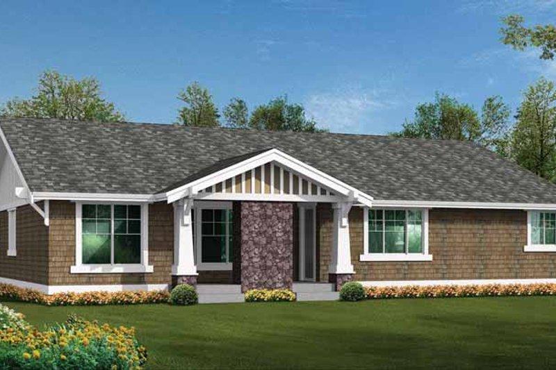 Craftsman Exterior - Rear Elevation Plan #132-538 - Houseplans.com