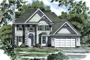 European Style House Plan - 3 Beds 2.5 Baths 1873 Sq/Ft Plan #316-116 Exterior - Front Elevation