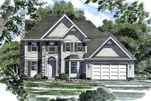 European Exterior - Front Elevation Plan #316-116