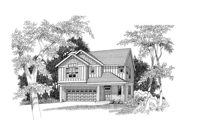 Craftsman Style House Plan - 3 Beds 2.5 Baths 2362 Sq/Ft Plan #53-503