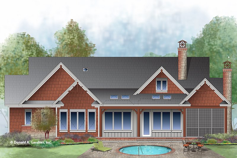 Craftsman Exterior - Rear Elevation Plan #929-998 - Houseplans.com