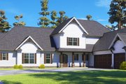 Craftsman Style House Plan - 4 Beds 3.5 Baths 3088 Sq/Ft Plan #437-111 Exterior - Other Elevation