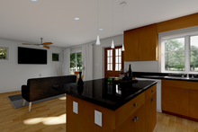 Cottage Interior - Kitchen Plan #126-178