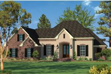 Home Plan - European Exterior - Front Elevation Plan #430-94