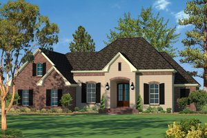 Architectural House Design - European Exterior - Front Elevation Plan #430-94