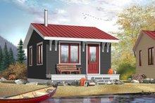 Cottage Exterior - Front Elevation Plan #23-2287