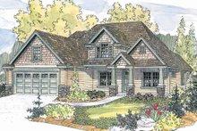 Architectural House Design - Craftsman Exterior - Front Elevation Plan #124-560