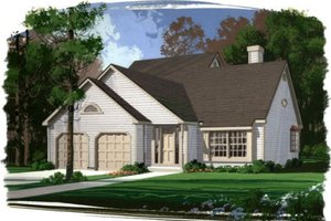 Home Plan Design - Traditional Exterior - Front Elevation Plan #56-130