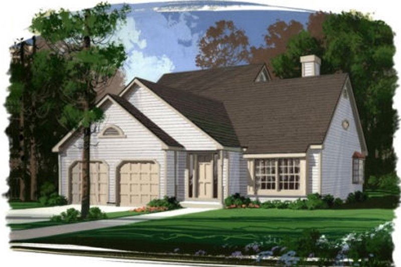 Dream House Plan - Traditional Exterior - Front Elevation Plan #56-130
