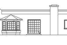 Adobe / Southwestern Exterior - Rear Elevation Plan #1-219