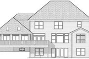 Colonial Style House Plan - 5 Beds 3.5 Baths 3938 Sq/Ft Plan #70-601 Exterior - Rear Elevation