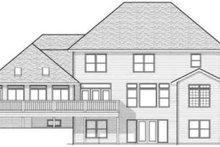 Colonial Exterior - Rear Elevation Plan #70-601