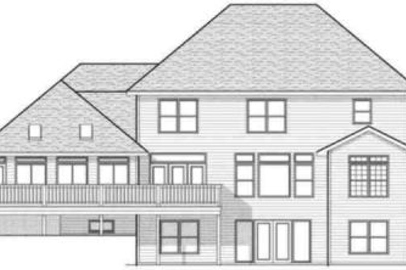 Colonial Exterior - Rear Elevation Plan #70-601 - Houseplans.com