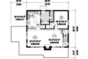 Cabin Style House Plan - 3 Beds 1 Baths 1382 Sq/Ft Plan #25-4587 Floor Plan - Main Floor Plan