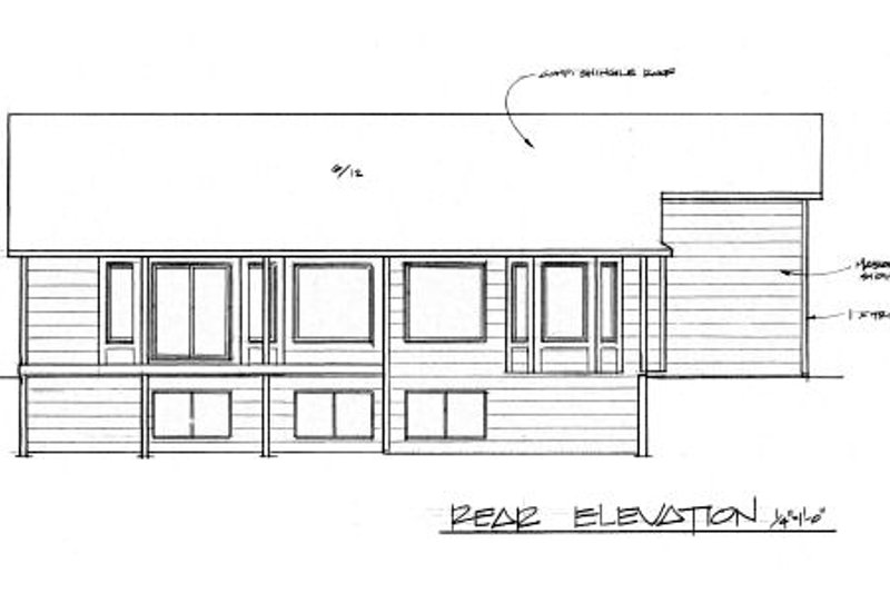 Traditional Exterior - Rear Elevation Plan #58-172 - Houseplans.com