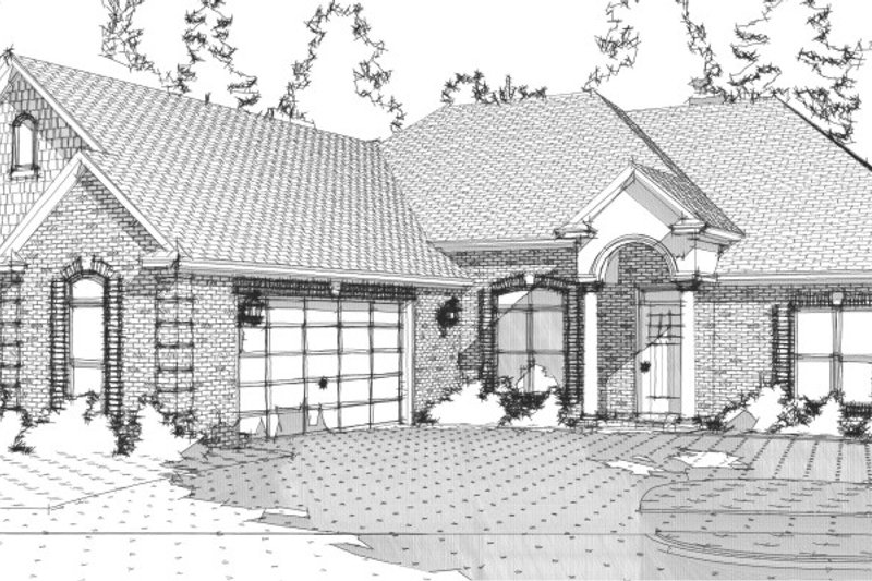 Ranch Style House Plan - 4 Beds 2.5 Baths 2447 Sq/Ft Plan #63-253 Exterior - Front Elevation