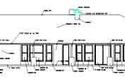 Adobe / Southwestern Style House Plan - 4 Beds 3.5 Baths 3533 Sq/Ft Plan #1-849 Exterior - Rear Elevation