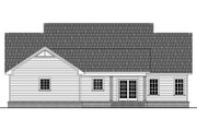 Country Style House Plan - 3 Beds 2 Baths 1636 Sq/Ft Plan #21-392 Exterior - Rear Elevation