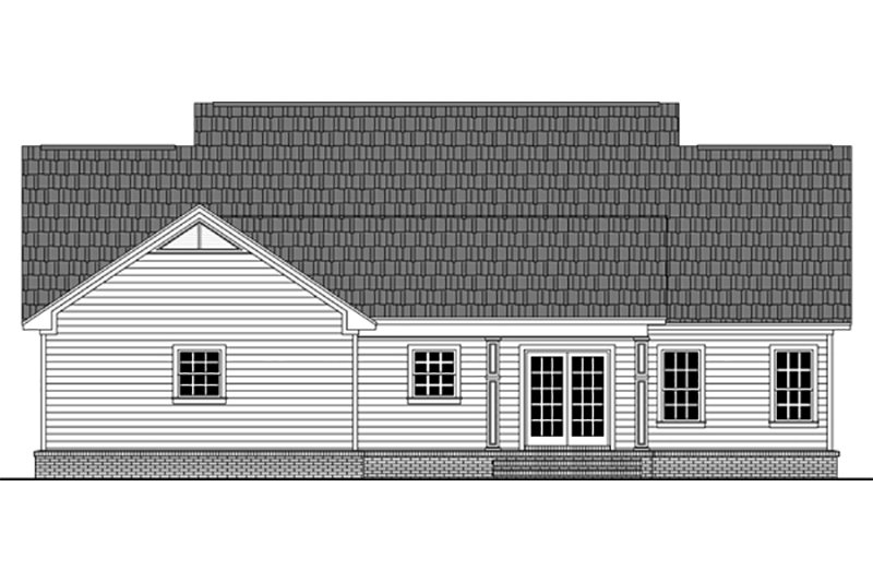 Country Exterior - Rear Elevation Plan #21-392 - Houseplans.com