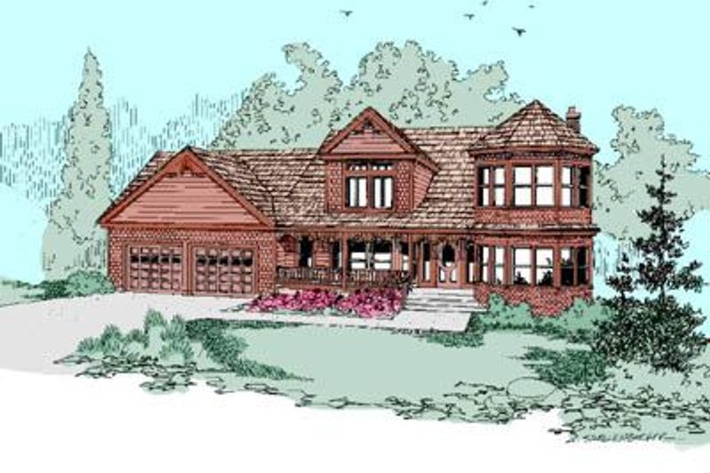 Traditional Exterior - Front Elevation Plan #60-250 - Houseplans.com
