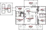 Cottage Style House Plan - 3 Beds 2 Baths 2342 Sq/Ft Plan #63-399 Floor Plan - Main Floor Plan