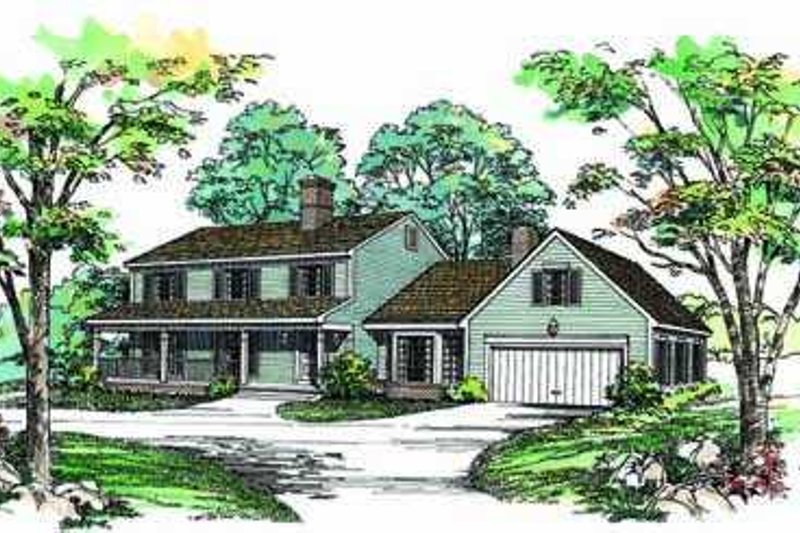 House Blueprint - Country Exterior - Front Elevation Plan #72-152