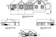 Southern Style House Plan - 3 Beds 2.5 Baths 2071 Sq/Ft Plan #56-236 Exterior - Rear Elevation