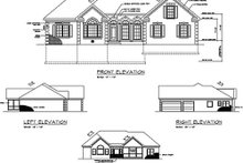 Southern Exterior - Rear Elevation Plan #56-236