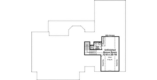 Country Floor Plan - Other Floor Plan Plan #21-374
