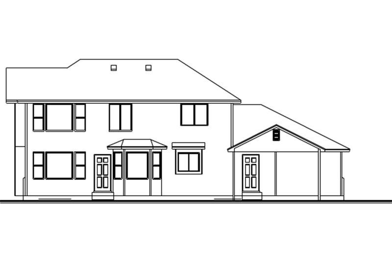 Traditional Exterior - Rear Elevation Plan #308-124 - Houseplans.com