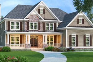 Home Plan - Country Exterior - Front Elevation Plan #419-185