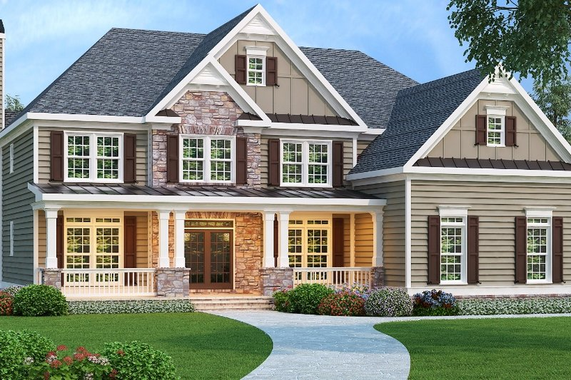 Country Exterior - Front Elevation Plan #419-185