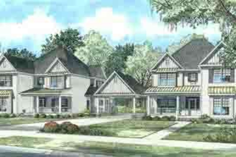 Southern Style House Plan - 5 Beds 3.5 Baths 6092 Sq/Ft Plan #17-621 Exterior - Front Elevation