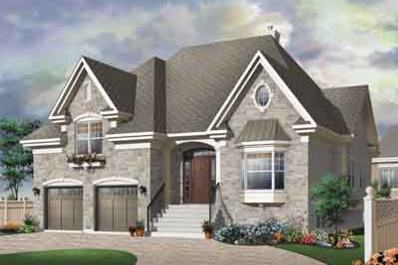 European Exterior - Front Elevation Plan #23-658