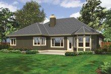 Ranch Exterior - Rear Elevation Plan #132-535
