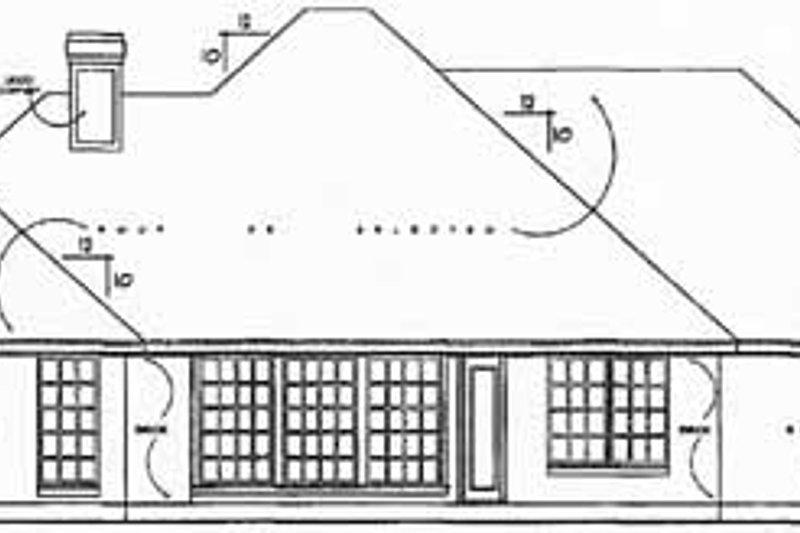 European Exterior - Rear Elevation Plan #40-170 - Houseplans.com