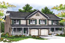 Home Plan - Country Exterior - Front Elevation Plan #70-1405